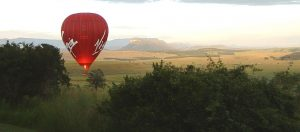 Drakensberg team building - Hot air balloon flight
