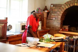 working in the kitchen - Drakensberg accommodation