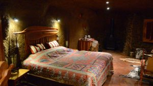 Bedroom of this Drakensberg luxury cave