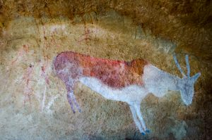 Bushman rock art at Antbear drakensberg luxury cave  Lodge