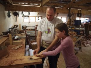 woodworking lessons. Options for children available